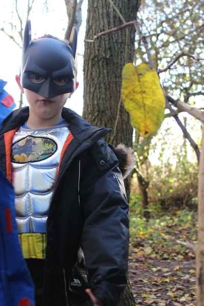 Child dressed as Batman
