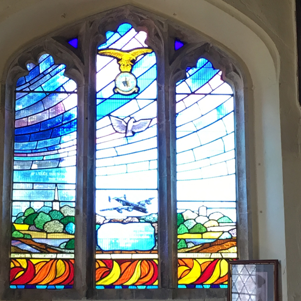 Photo of the stained glass windows