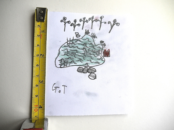 Tiny pond drawing by George