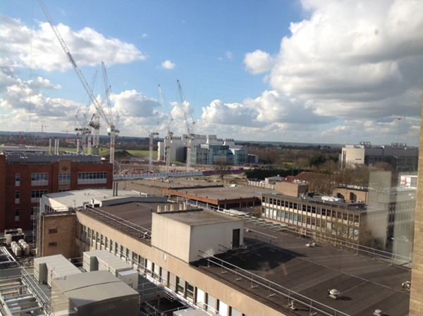 View of Addenbrooke's from the ninth floor