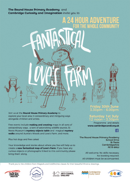 Fantastical Love's Farm leaflet