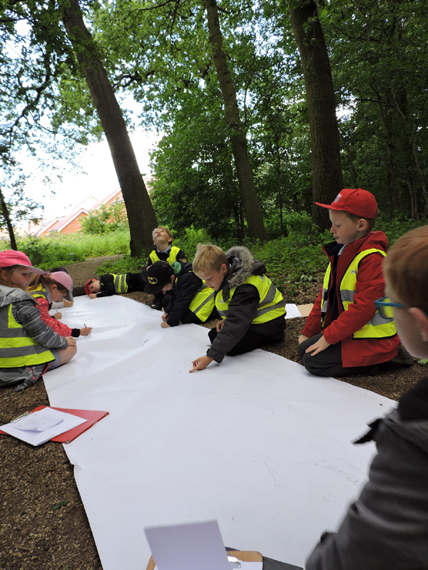 Group drawing in aunties woods 3